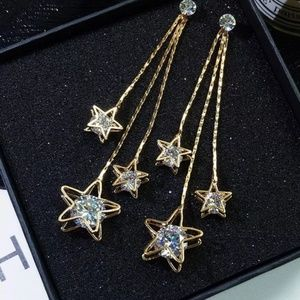 Five-pointed Star Brincos Oorbell